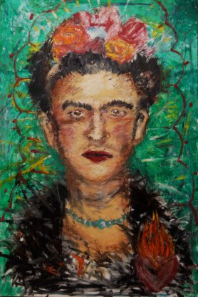 FRIDA on Canvas (30x40) Medium: Oil Bars