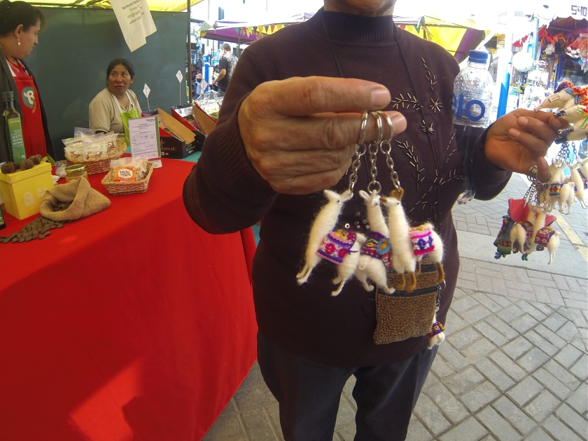 Key chains for sale in the market.