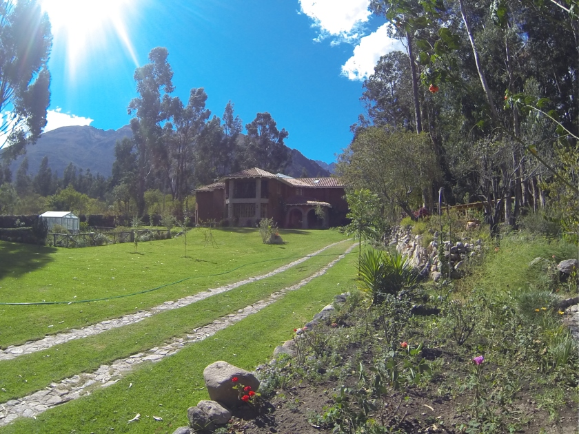 View outside our lil hut in Sacred Valley Cusco.